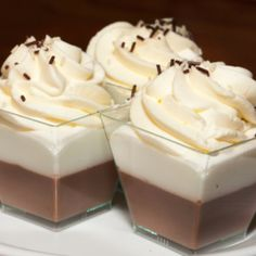 Mousse de Chocolate Obscuro y Blanco
