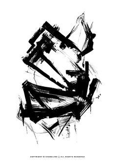 Original art by swedish artist VAGNELIND - INK ELEVEN