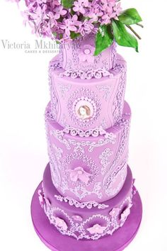 Spring Lilac Wedding Cake - Cake by Victoria Mkhitaryan Cakes&Desserts - CakesDecor