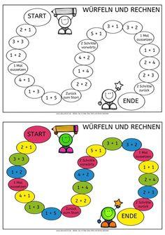 Würfelspiel im Zahlenraum bis 6, Würfelspiel, Zahlenraum bis 6, rechnen, Mathe, Dyskalkulie, Rechenschwäche, Eltern, Kinder, kostenlos