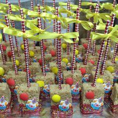 Circus/Carnival themed rice crispy treats www.sweetanniesbakedgoods.com