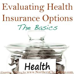 Do the various health insurance options make your head spin? Some straight forward information you can use to evaluate your health insurance options.