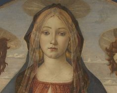 Workshop of Botticelli c. 1490 Virgin and Child with Saint John and an Angel (detail