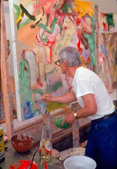 De Kooning at work