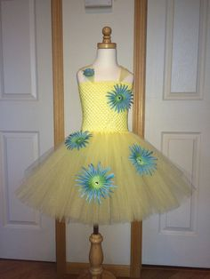 Joy Inspired Tutu/Inside Out Costume/Inside by SweetChicksTutus