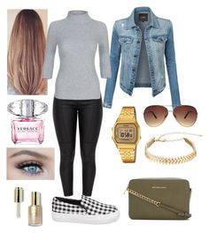 """""""Casual"""" by frenkiefashion on Polyvore featuring LE3NO, Steve Madden, MICHAEL Michael Kors, Casio, Ashley Stewart, Rebecca Minkoff, Versace and Stila"""
