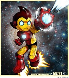 Iron Boy, a Mashup up of Astro Boy and Iron Man by Marco D'Alfonso
