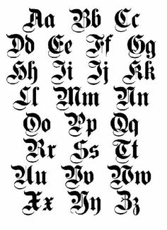 Old English Lettering Tattoos Art Pictures Images Photo Illustrations Chicano Lettering, Graffiti Lettering Fonts, Lettering Design, Tattoo Fonts Alphabet, Calligraphy Fonts Alphabet, Cursive, Old English Tattoo, Old English Font, Old English Letters