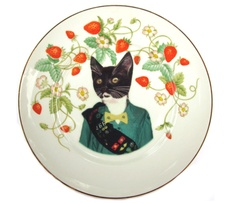 omg cats + food. not to be confused with catfood. Scout Portrait Plate @ Uncovet