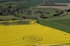 Crop Circles in Waden Hill, Nr Avebury, Wiltshire. Reported 22nd April – XissUFOtoday