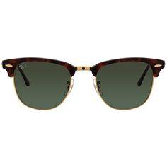 e64beca8fb9d Ray Ban Tortoise Green Clubmaster wayfarer sunglasses
