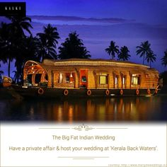 Your wedding is a once in a lifetime occasion. Make it grand by celebrating it at Kerala.
