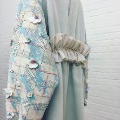 MA Collection at London Fashion Week | #MAFashion #jodieruffle #fashion #textiles #embroidery #sequin #flower #embellishment #concrete #collage