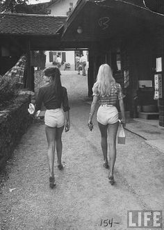 classic babes in short shorts.