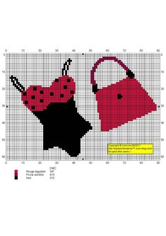 point de croix sac & maillot de bain - cross stitch bag and swimsuit