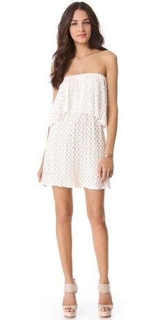Tbags Los Angeles Tiered Strapless Crochet Dress | SHOPBOP