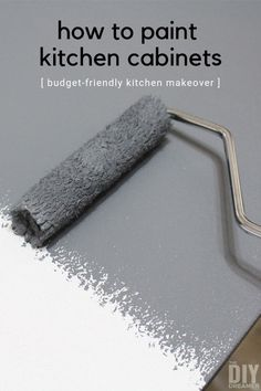 Learn how to paint kitchen cabinets with this step by step tutorial. Painting kitchen cabinets is a budget-friendly solution for a kitchen makeover. Update Kitchen Cabinets, Painting Kitchen Cabinets, Kitchen Paint, Kitchen Ideas, Kitchen Decor, Grey Kitchen Designs, Do It Yourself Furniture, Kitchen Furniture, Furniture Stores