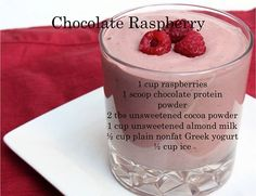 YUM! Chocolate Raspberry Smoothie - 100 days of smoothies #30