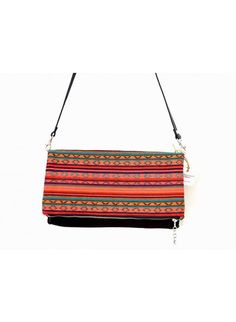 Caracus Foldover Clutch & Cross Body Bag - Large - Black Leather - Clutches - Because I Like It