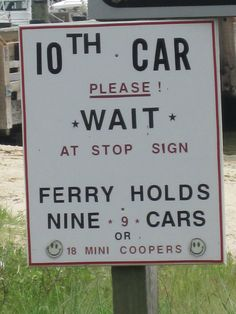 The ferry holds 9 cars or 18 mini coopers :) haha #cute #funny #minicooper
