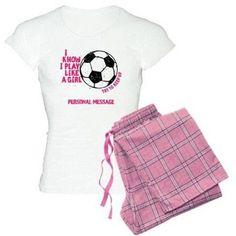 Cafepress Personalized Soccer Girl Women's Light Pajamas, Size: 2XLarge (+$3.00), Pink