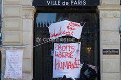 Paris : Des réfugiés campent devant la mairie du 18e arrondissement - A la une - Citizenside France