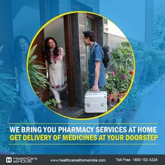 You don't need to travel to get medicines anymore, because we travel for you. We bring medicines for you at your home...