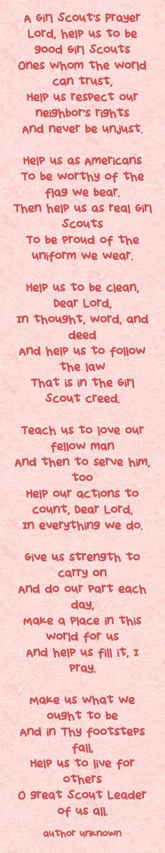 A Girl Scouts Prayer | Faith in Scouting