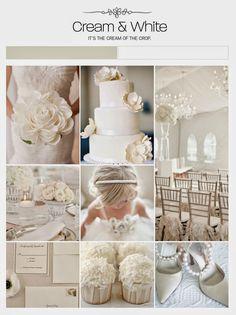 Cream and white wedding inspiration | LUV DECOR: Wedding