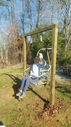 My Very Own Chair Lift Swing From Sugar Mtn. Love This Swing!