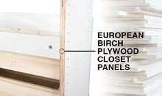 Modular Closets makes it simple and affordable for you to get the closet of your dreams. Our closet systems are made from quality wood and are easy to install. Modular Closets, Closet Drawers, Closet System, Plywood, Make It Simple, This Is Us, Hardwood Plywood, Cabinet Drawers