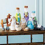 Seasonal - Handmade Nativity Set - Set of 10, RSH Catalog