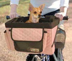 Pink Pet Bicycle Basket