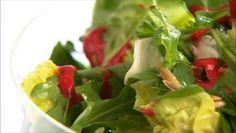 Flavors of Fall - Bibb and Arugula Salad with Raspberry Vinaigrette