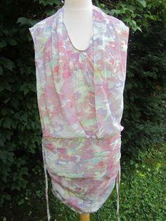 IRO SWAN DRESS KLEID SIZE XXS 0 32 STRETCH SILK CAMO-PRINT DRESS SEIDE NP 615€