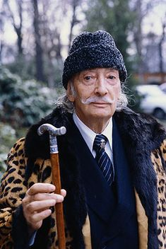 Dalí in Paris in 1980. He died in 1989, seven years after his wife and muse, Gala. He is buried in the crypt of the Teatre Museu Dali in his home town of Figueres