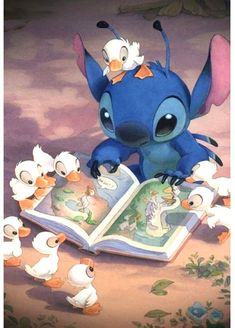 Duck and Stitch Adult Embroidery Arts Craft Home Decor Cartoon Anime Series 12 x 16 inch DIY 5D Diamond Painting by Number Kit Canvas