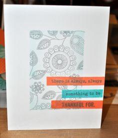 ...Just What I Do...: Melon and Aqua CAS card