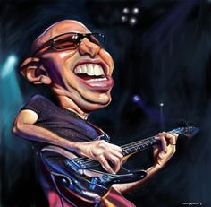 Caricature Joe satriani