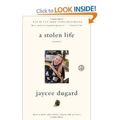 A Stolen Life: A Memoir. Written by Jaycee Dugard. I was proud to have played a small role in her search effort. Read my story here - www.JayceeLeeSong.com. Buy the book here - http://www.amazon.com/Stolen-Life-Memoir-Jaycee-Dugard/dp/1451629192/ref=sr_1_1?s=books=UTF8=1357673688=1-1=jaycee+dugard