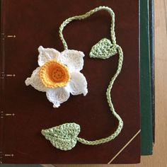 Daffodil crochet bookmark