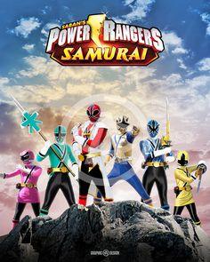8+x+10+glossy+print+of+the+legendary+Power+Rangers+Samurai.