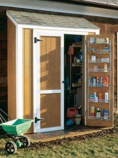 My Shed Plans - Build a New Storage Shed with One of These 23 Free Plans: Free Shed Plan to Build a Simple Shed - Now You Can Build ANY Shed In A Weekend Even If You've Zero Woodworking Experience! Diy Storage Shed Plans, Small Shed Plans, Storage Shed Organization, Wood Shed Plans, Free Shed Plans, Small Sheds, Cabin Plans, Easy Storage, Extra Storage