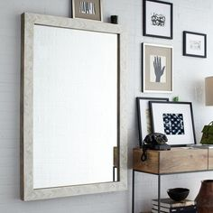 Parsons Large Wall Mirror - Bone Inlay