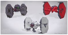 ArtStation - Alternative TIE fighter designs, Michal Kus