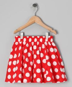 Take a look at this Red & White Polka Dot Janet Skirt - Infant, Toddler & Girls by Rockefella on #zulily today!