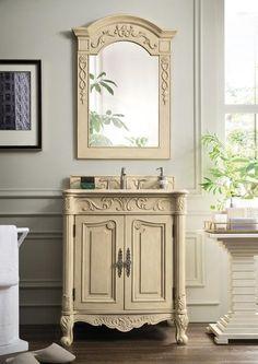 "St James 30"" James Martin Parchment Bathroom Vanity"