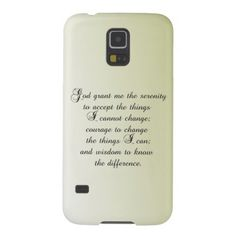 Serenity Prayer Case For Galaxy S5