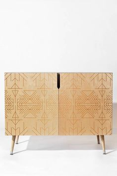 <div>Credenza with baltic birch construction and ultra smooth durable gloss finish. one interior shelf and tapered wood legs. 150 lb. weight limit. care: wipe clean with non-abrasive rag. custom made in denver, colorado. assembly required.</div><p><p>Item is final sale and non returnable</p>