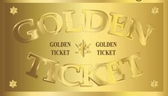 Here's your golden ticket--what will you do with yours? http://bit.ly/mbdVIP